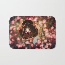 Marsala Tulip Flower Bath Mat