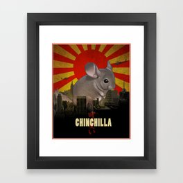 Chinchilla Kaiju Framed Art Print
