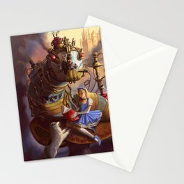 Sandra's Steampunk Alice in Wonderland Stationery Cards