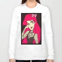 ariel Long Sleeve T-shirts featuring Ariel by LuxuryLivingNYC