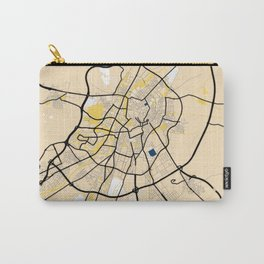 Valladolid Yellow City Map Carry-All Pouch