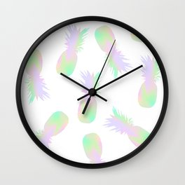 Pineapples Iridescent Holographic Wall Clock