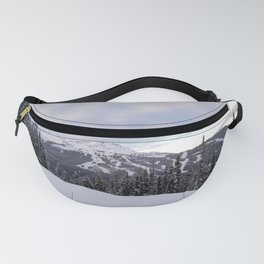 Mountains behind the trees Fanny Pack