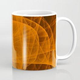 Eternal Rounded Cross in Orange Brown Coffee Mug
