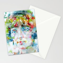 KATHERINE MANSFIELD - watercolor portrait Stationery Cards