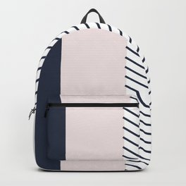 Navy Blush and Grey Arrow Backpack