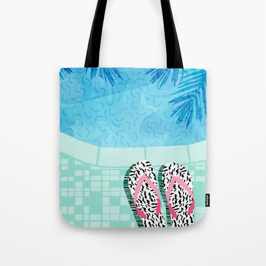 Go Time - resort palm springs poolside oasis swimming athlete vacation topical island summer fun  Tote Bag