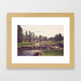 Down Time's Quaint Stream Framed Art Print