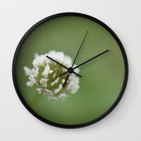 clover Wall Clocks featuring clover by studiomarshallarts