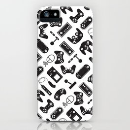 Control Your Game - Black on White iPhone Case