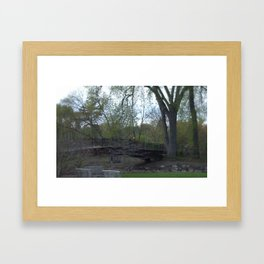 Dry Bed Bridge Framed Art Print