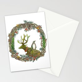 Christmas wreath Stationery Cards