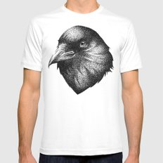 CROW White X-LARGE Mens Fitted Tee