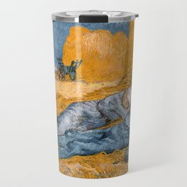Noon - rest from work by Vincent van Gogh Travel Mug