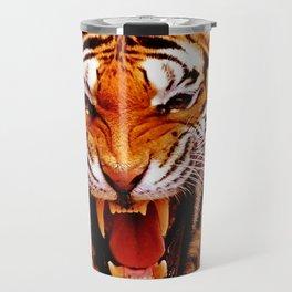 Tiger and Flame Travel Mug