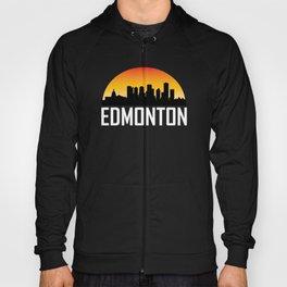 Sunset Skyline of Edmonton AB Hoody