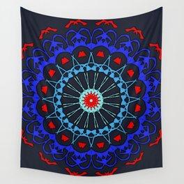 Renaissance ReBoot Mandala (Red & Blue) Wall Tapestry
