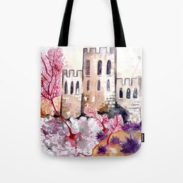 Castle and Coral Tote Bag