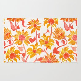 Sunflower Watercolor – Fiery Palette Rug