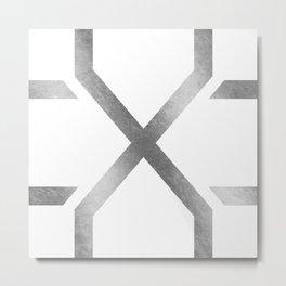 Crossed Silver Metal Print