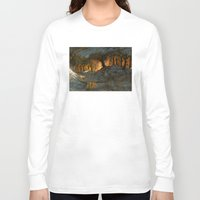 feet Long Sleeve T-shirts featuring Cold Feet by Sam Rowe Illustration
