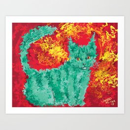 The Cat Who Loved Me Art Print