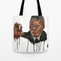 christopher walken Tote Bags featuring Christopher Walken as Captain Koons by rusto