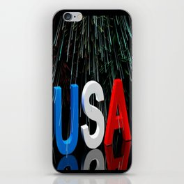 Patriotic USA Sparkler   iPhone Skin