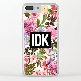 IDK Clear iPhone Case