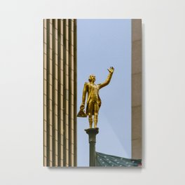 George Washington Flagpole Topper Old Statehouse Hartford Connecticut Gold Statue Metal Print