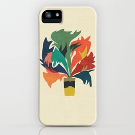 Potted staghorn fern plant iPhone Case