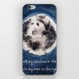 Moon, Blue skies, Lovely Moon, Moon and Sunshine, Gift, night sky iPhone Skin