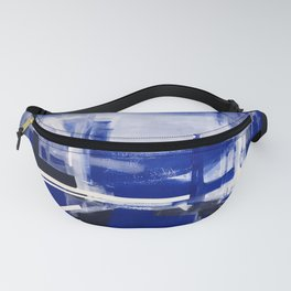abstract BLUE Fanny Pack