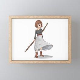 Strong Women - Boots and Skirt Anime Girl Framed Mini Art Print