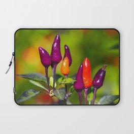 Chillies, variety 'Purple Tiger' Laptop Sleeve