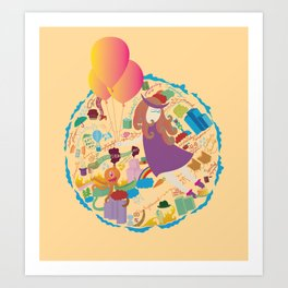Ambrosia with balloon Art Print