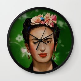 Frida Kahlo Print Wall Clock