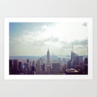 nyc Art Prints featuring NYC by Shilpa