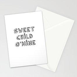 Sweet Child O'Mine Stationery Cards