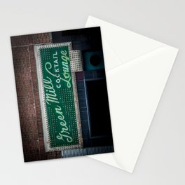 Green Mill Cocktail Lounge Vintage Neon Sign Uptown Chicago Stationery Cards
