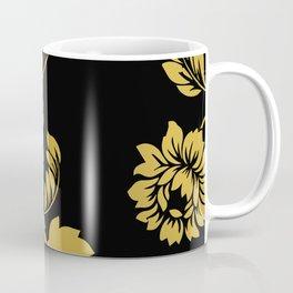 Victorian Floral (Black & Gold) Coffee Mug