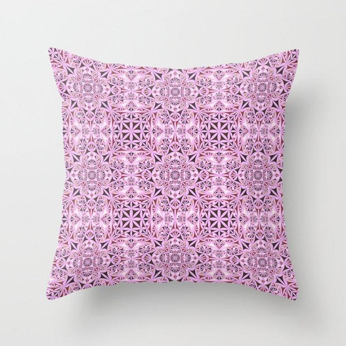 Pink kaleidoscope wallpaper Throw Pillow