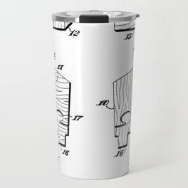 patent art Ake Violin Bridge 1948 Travel Mug