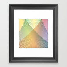 Gradient Strings Framed Art Print