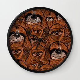 Mountains and mountains of sloths. Wall Clock