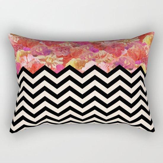 Chevron Flora Rectangular Pillow