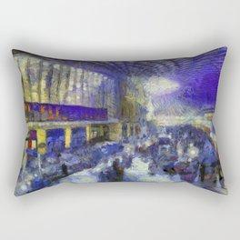 Kings Cross Station Van Gogh Rectangular Pillow