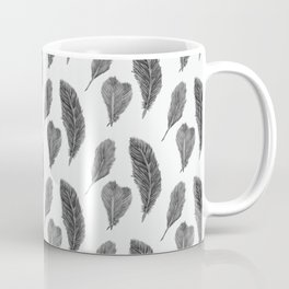 Feather Collection pattern - black and white Coffee Mug