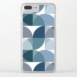 Blue semicircles Clear iPhone Case