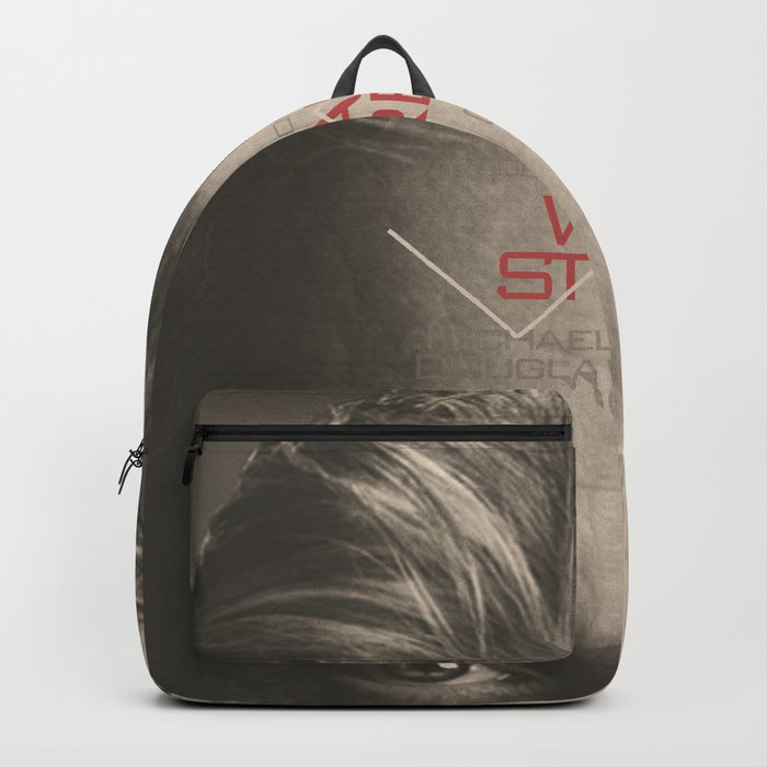 Wall Street, alternative movie poster, Gordon Gekko, Oliver Stone, film, minimal fine art playbill Backpack